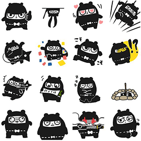 Sticker Pack Vol.1 Ninja Bear